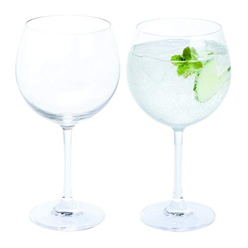Dartington Crystal - Crystal Copa Gin Glasses, Set of 2 x 650 ml - Gift Boxed