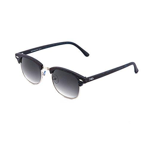 Negro DEGAS estilo Ebano TWIG mujer hombre Degradado Gafas de sol madera 1zqWfWO