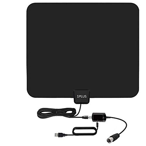 HDTV Antenna,65-100 Miles Indoor HDTV Antenna Digital TV Antenna with Signal Amplifier-Support 4K 1080P Freeview Channels - 13.2Ft Coaxial Cable (Tv Antenna Bunny Ears)