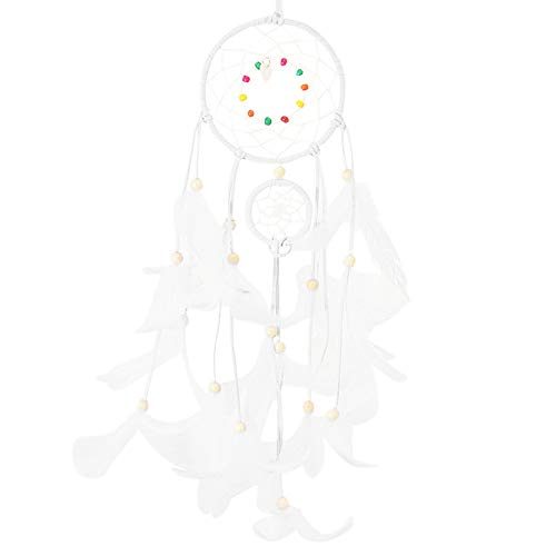 Hot Sale!DEESEE(TM)Handmade Dream Catcher Feathers Night Light Car Wall Hanging Room Home Decor (White) ()