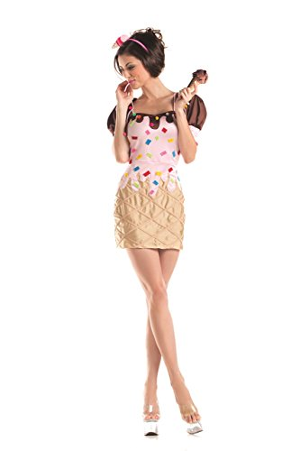 Party King Women's Sexy Frozen Treat Cutie 3 Piece Costume Dress Set, Brown, Medium for $<!--$34.99-->