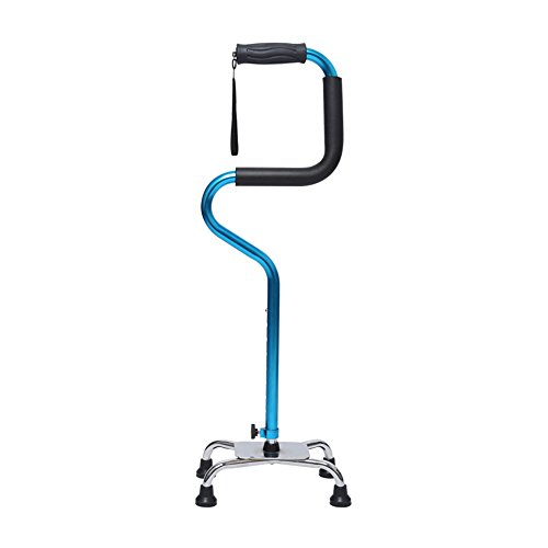 HXZXH Canes Adjustable Walking Canes Quad Cane for Men and Women Lightweight Stable Self Standing Walking Stick Versatile Stabilizing Hand Crutch T Handle Fashionable Blue