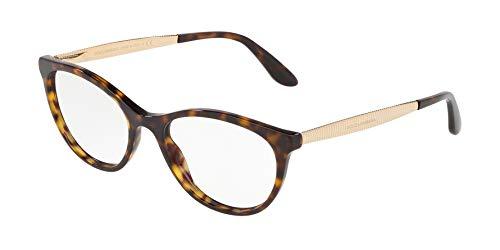 - Dolce Gabbana DG3310 Havana/Clear Lens Eyeglasses
