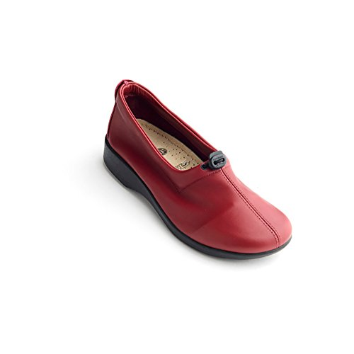 Arcopedico 7851 Queen Ii Mocassini Da Donna Scarpe Bordeaux