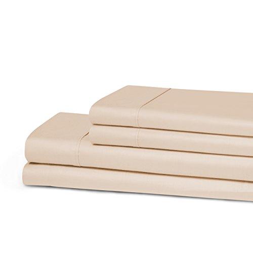 Superior Anti-Microbial 100% Cotton, 300 Thread Count Sheet Set, Twin, Peach