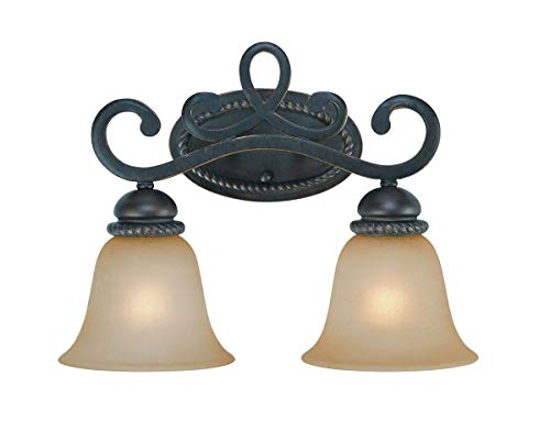 Bathroom Vanity 2 Light Fixtures with Mocha Bronze Finish Steel Material Medium 17