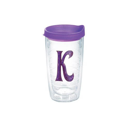 Tervis Tumbler with Purple Lid and Letter-K in - Tumbler With Letter K