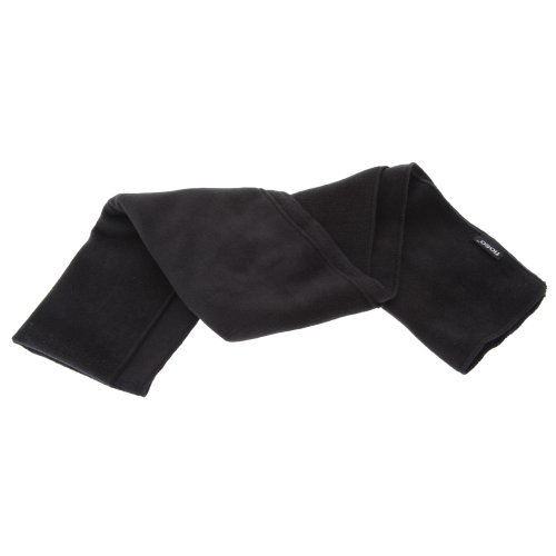 Fashion Winter Fleece Scarf - FLOSO Mens Plain Thermal Polar Fleece Winter/Ski Scarf (62 x 10 inches) (Black)