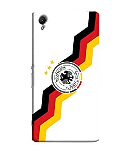 ColorKing Football Germany 25 White shell case cover for Sony Xperia Z5