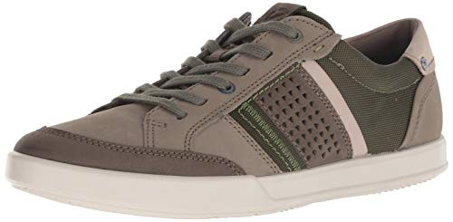 ECCO Men's Collin 2.0 Casual Tie Sneaker, Nubuck/Tarmac, 43 M EU (9-9.5 US)