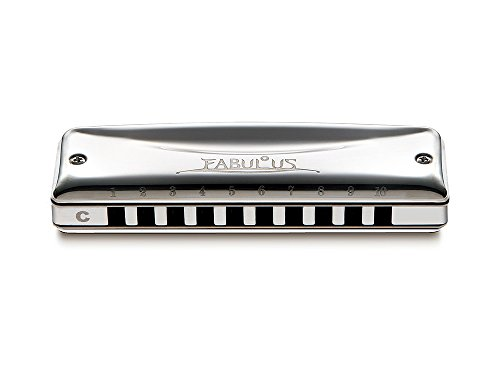 Suzuki F-20J-E Fabulous 10-Hole Diatonic Just Temperament Harmonica, Key of E by Suzuki