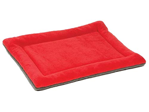 Shallnne Large Size Dog Bed Multi-Color Pet Dog Bed Padded Puppy Cat Mat Warm Pet Cushion Rectangle Cat Dog Mat Kitten Kennel Soft,RED,60X45X2CM ()