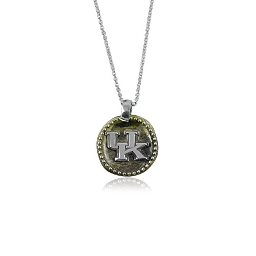 (University of Kentucky Wildcats UK Sterling Silver Jewelry by Dayna Designs (Antique Coin Necklace))
