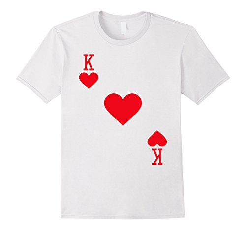 Mens King of Hearts Costume T-Shirt Halloween Deck of Cards XL (Las Vegas Themed Halloween Costumes)