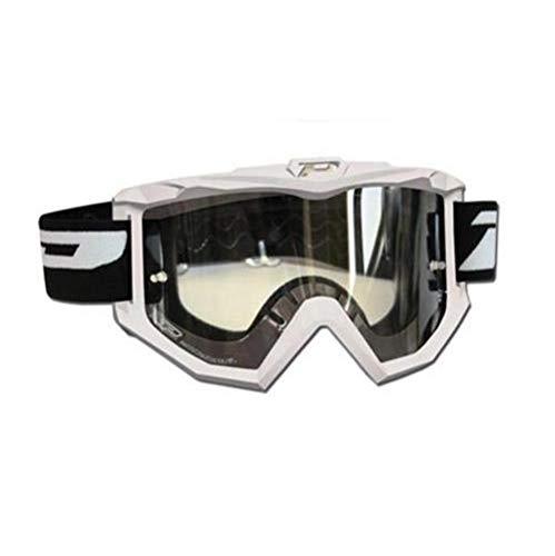 Progrip Race Line Goggles W/Antiscratch Lens White -