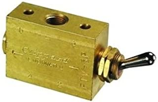 "product image for Clippard FTV-3P 3-Way Toggle Valve, Enp Steel Toggle, 1/8"" NPT, 10.5 SCFM at 100 PSIG"