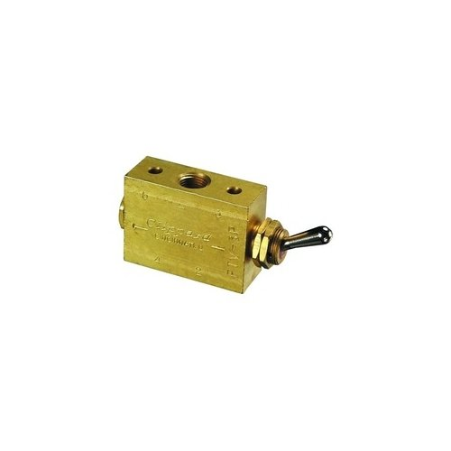 Clippard FTV-3P 3-Way Toggle Valve, Enp Steel Toggle, 1/8'' NPT, 10.5 SCFM at 100 PSIG by clippard