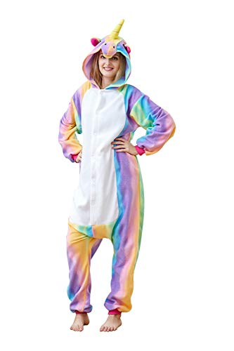 EcoOnesie Adult Animal Onesie Colored Unicorn Cosplay Pajama