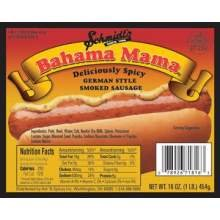 Hot N Spicey 6:1 Gourmet To Go Bahama Mama Smoked Sausage, 10 Pound -- 6 per case. by Home Market Foods
