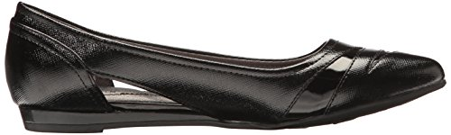 LifeStride Women's Quizzical Pointed Toe Flat Black 6rec7Ai
