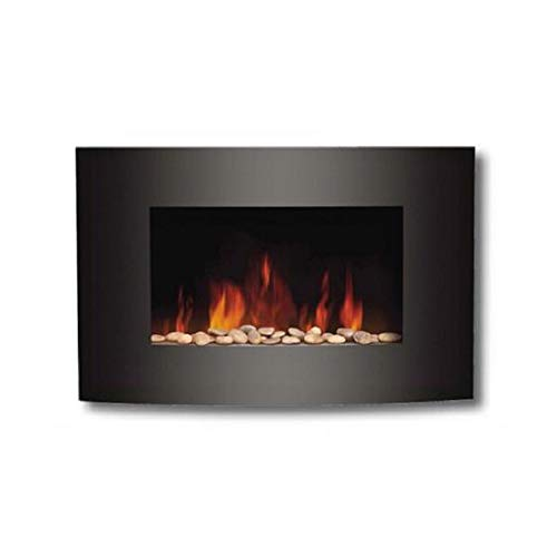 green electric fireplace - 8