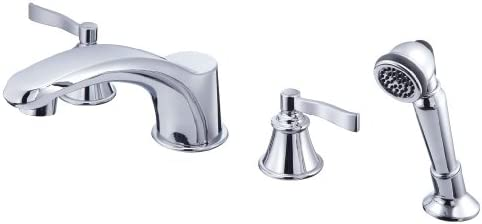Danze D301725 Aerial Collection Roman Tub Faucet with Soft Touch Personal Shower, Chrome