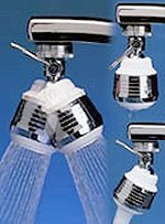 Siroflex New Style Deluxe Double Swivel Sprayer,Chrome & White,One Size