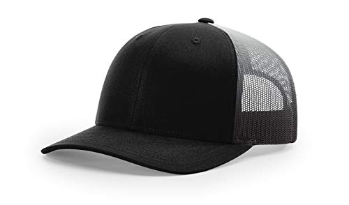 6261141ec Running Partner Richardson 112 112P Trucker Mesh Snapback Hat Curved Bill  with NoSweat Hat Liner