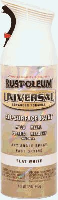 Rust-Oleum 247563 12-Ounce Spray Paint  Universal Advanced Formula, White Primer