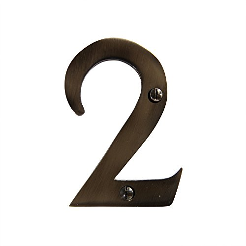 Decorative Brass House Number (RCH Hardware 2272AN075 Decorative 3