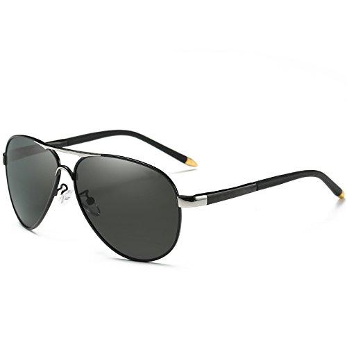 hombres de ESPEJO macho sol gafas polarizadas estilo piloto polarizadas TIANLIANG04 para azul UV400 frío Grigio LENTES DE de sol gafas Automóvil de gafas dqznqvxwR