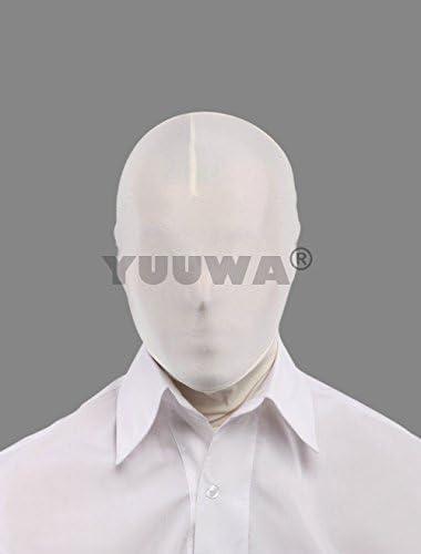 (YUUWA)全身タイツアクセサリー マスク ホワイト 単色 開口部がない 仮装コスチューム パーティ/宴会/歓送迎会/クリスマス/ハロウィン/忘年会/余興/誕生日仮装変装M