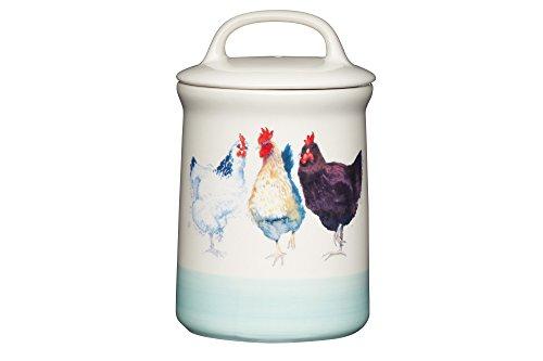 Kitchen Craft Apple Farm Hand-Finished 'Hazel Hen' Ceramic Airtight Storage Jar, 10.5 x 17.5 cm (4