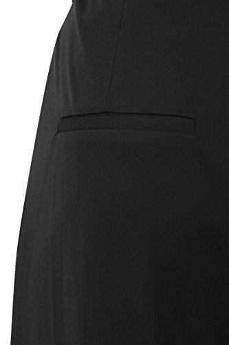 Negro Para Promiss Recto Mujer Liso Pantalón nwqYUx7PX