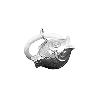 Kinderrassel mit Beißring Fisch  aus Sterling Silber 925