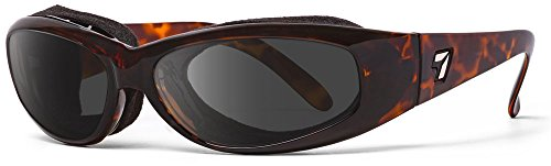 7eye SharpView Chubasco Sunglasses, Tortoise Dark Frame, Gray Lens, Small/Large