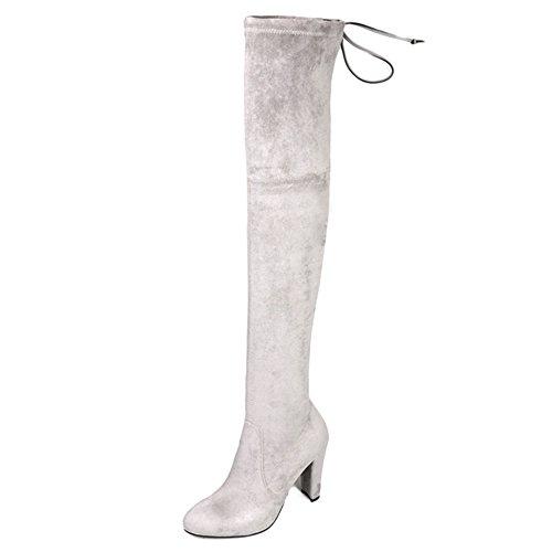 Nine SevenOver-the-knee Boots - Botas mujer gris