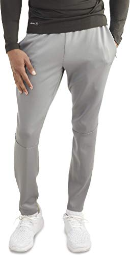 Russell Men's Training Fit Slim Dri-Power Performance Pant (Light Grey, Large) ()