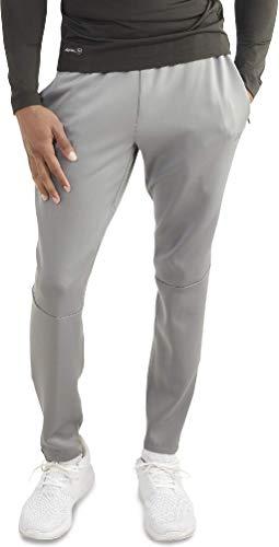 Russell Men's Training Fit Slim Dri-Power Performance Pant (Light Grey, Large)