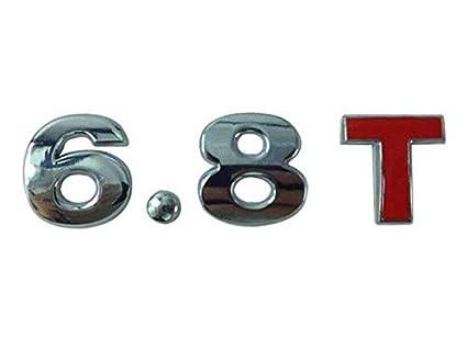 6.8T 6.8 T 8.6T Turbo Engine Metal Rear Trunk Emblem Badge Decal Sticker