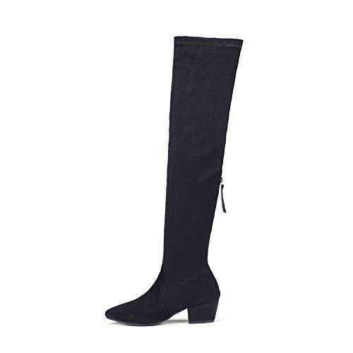 N.N.G Women Boots Over Knee Long Fashion Heels Autumn Quality Suede Comfort Square Heels Plus ()