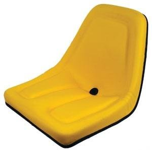 Deluxe Mower Tractor Seat for John Deere, Kubota, Allis-Chalmers, Bobcat, Case-IH, Ford New Holland, White, Oliver, Mpl, Moline, Massey Ferguson High Back (Black) AI Products