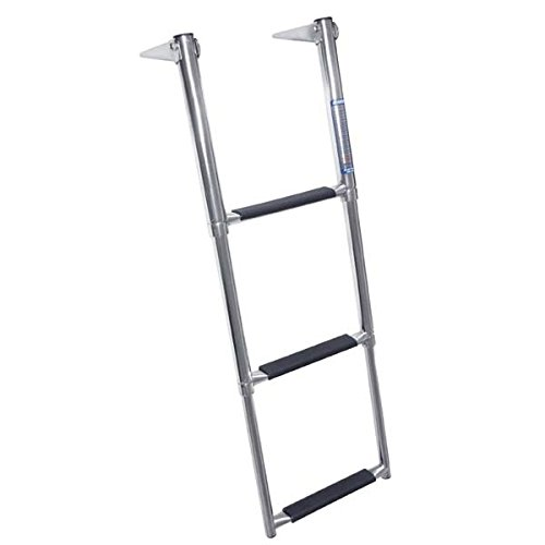 Telescoping Boat Ladders - Windline TDL-3X Marine Stainless Steel Over Platform Telescoping Boat Ladder with 3 Steps