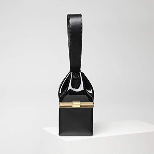 Black Black Noche Mini Patente Yy4 color Bolso Dorado Cute Pequeño Cuadrado De Cuero Oro Small Mujer Kervinfendriyun waIZ0qUw