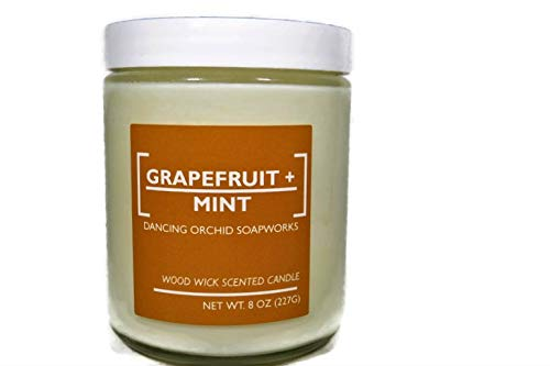Grapefruit mint candle Tin jar candles soy candle summer scent candle party favor candles 4oz soy candle wood wick candle