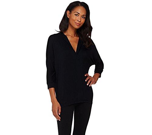 Lisa Rinna Collection Dolman 3 4 Slv Knit Top A273518  Black  Xs