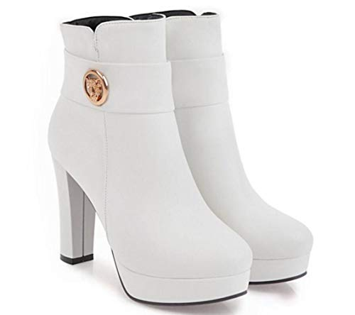Blanco Colores De una 36 Mujer zapatos Cálidas Invierno Variedad Botas Cn Tacón Para Elegir Cálidas Alto 43 U7xIaWwqv