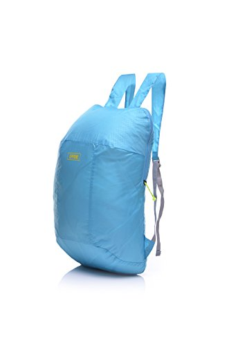 GEERTOP Daypack Rucksack Reiserucksack Tagesrucksack Trekkingrucksack Faltbarer Tragbarer Ultraleicht Wasserdichter 70g für Outdoor Wandern Camping Hellblau QqRA8o