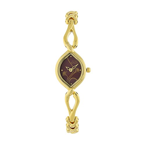 Titan Analogue Women's Watch (Gold Colored Strap)