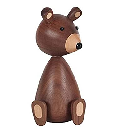 Amazon Com Sodial Little Bear Wood Ornaments For Decor Squirrel For